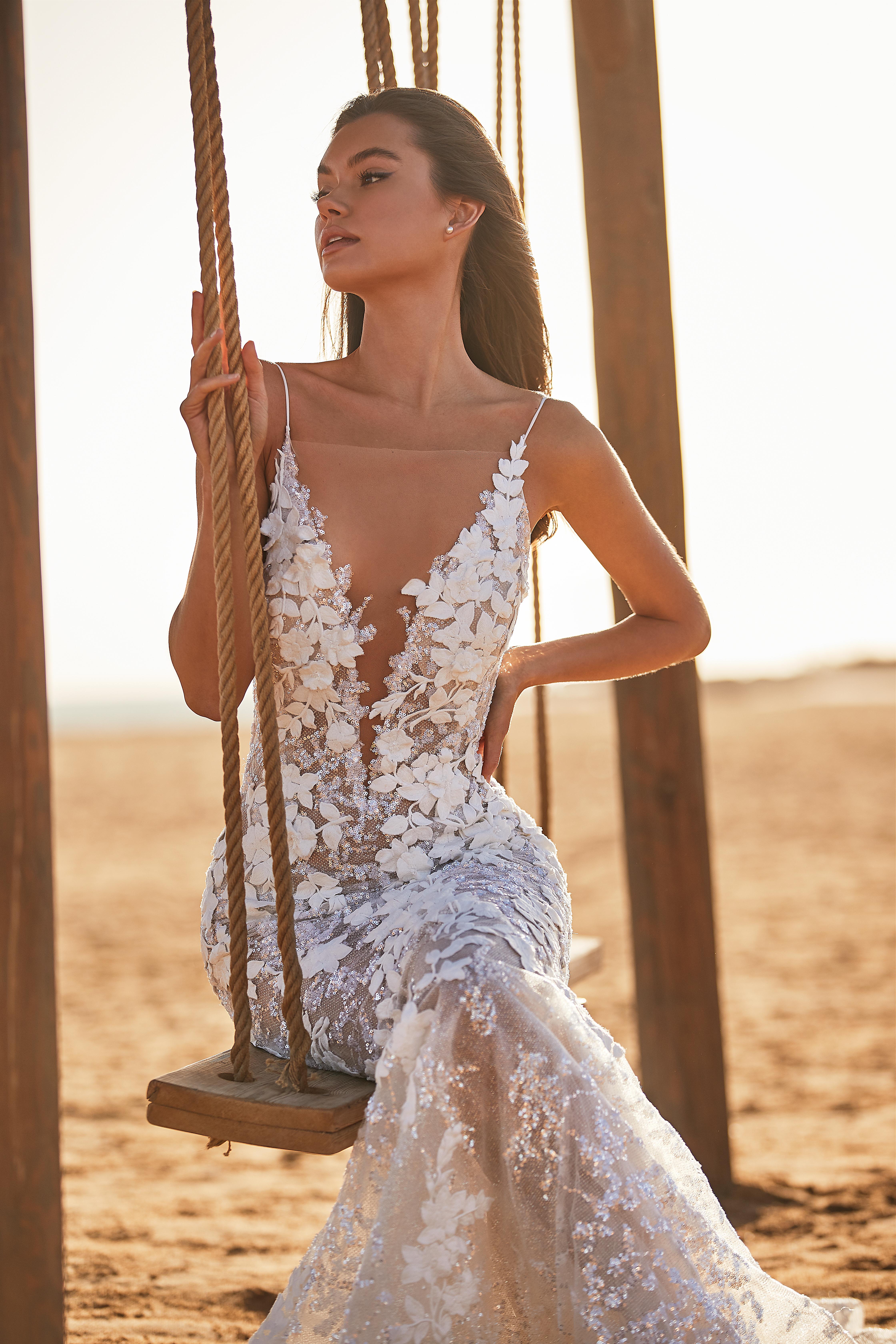 Rochie de mireasa 2021 sirena Lorenzo Rossi 2021 - model Djeyn